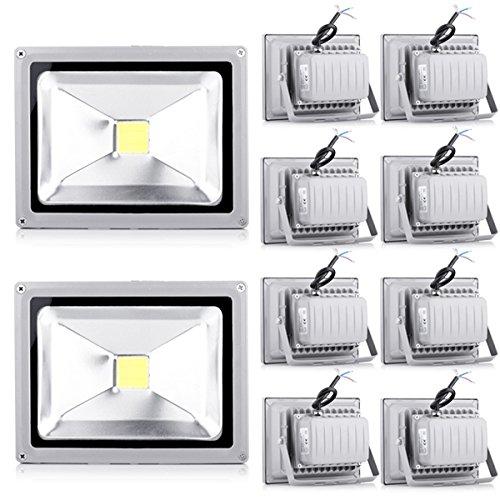 10*20W projecteur Blanc froid haute puissance LED inondation en plein air Lampes Paysage