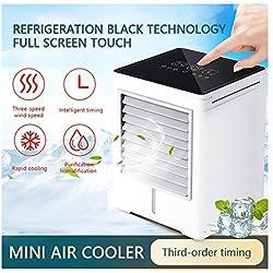 Mini Refroidisseur d'air Portable USB,Climatiseur Portable, Mini Climatiseur Mobile, Refroidisseur d'air Portable - Rafraichisseur d'air Et Ventilateur (Blanc)