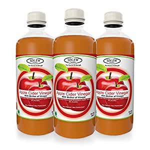 Sinew Nutrition Apple Cider Vinegar with Strands of Mother, 500 ml (Pack of 3)
