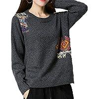 ALUK- Suéter de otoño e invierno ocio párrafo corto de manga larga camisa de punto ( Color : Gris oscuro , Tamaño : XL )