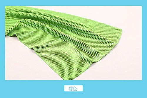 Dr. kao microfibra toalla limpia azul claro–secado rápido Micro toallas de gimnasio para piscina Camping viaje deportes Yoga y Pilates y baño (azul), verde