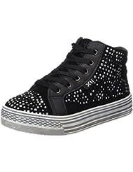 Xti Botin Niña Antelina Combinada Negro ., Sneakers basses fille
