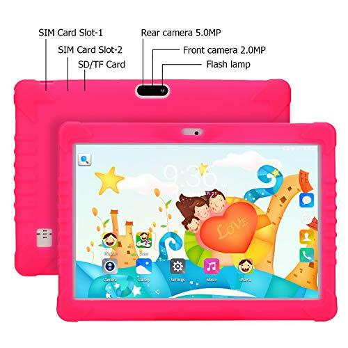 Tablet Para Niños, SANNUO 10.1 Pulgadas Tablet Infantil (3G, Android 6.0,  Quad- Core, 1+16GB,  Doble Cámara,  Google Play,  Juegos Educativos)