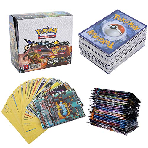 324Pcs Pokemon Cartes, Pokemon 36Pcs GX Cards, Sun & Moon Series, Ultra Prism Series