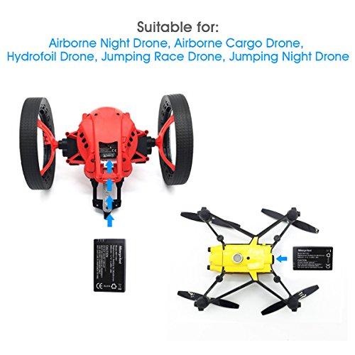 Morpilot 3er Pack 3,7V 600mAh 20C Li-po Batterie mit 3-Port Schnellladegerät Stromkreisschutz für Parrot MiniDrones Springen Sumo, Papagei Mini Drone Rolling Spider - 7