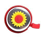 WINOMO Fahrrad für Kinder Fahrrad Glocke Radfahren Sonnenblume Lenker Ring Ringer Horn (rot)