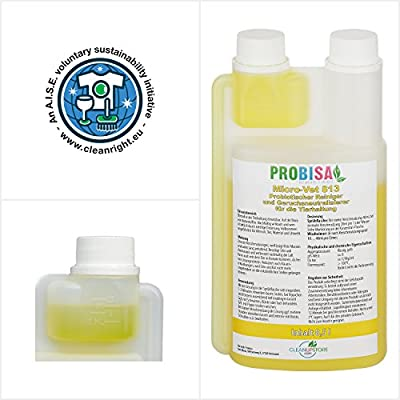 Pet Mess Cleaner and Odour Eliminator Probisa Micro Vet 813 - All Natural and Organic - Cleans Cages, Barns, Animal Enclosures and Cat Litter Tray - Safe for Pets and Animals (500ml Concentrate yields 25 Litres Ready to Use) by CleanUpStore