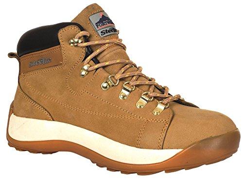 Portwest Fw31 Steelite™ Mid Cut Nubuck Boot Sb Mens Nouvelles Chaussures Miel