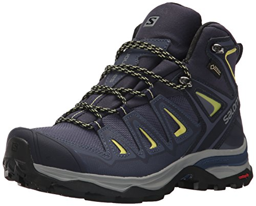 Salomon Damen Multi-Stiefel X Ultra 3 Mid GTX Women Trekking-& Wanderstiefel, Blau (Crown Blue/Evening Blue/Sunny Lime 000), 38 EU