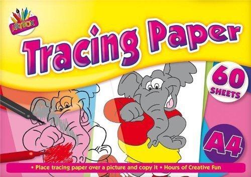 3 GET 1 gratis beim Kauf von A4 Block 60 Blatt Transparentpapier Schulrucksack Bürostuhl FUN Spaß lernen