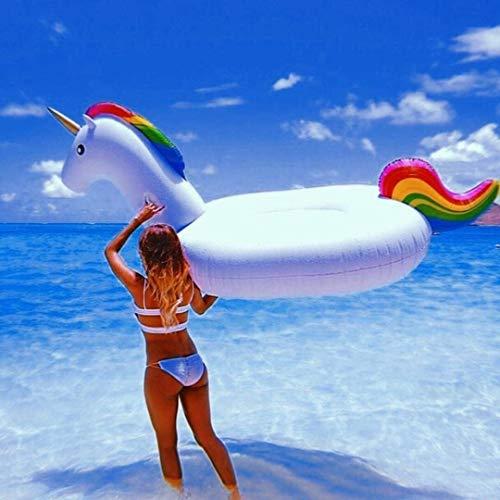 Kayak Unicornio fila flotante adulto grande PVC agua inflable piscina asiento inflable flotante piscina piscina juguetes, adecuado para adultos y niños Pesca, deportes al aire libre, playa, mar.