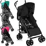 Buggy / Kinderwagen mit verstellbarer Rückenlehne (zusammenklappbar) (SCHWARZ / PINK)