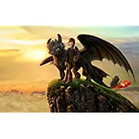 How to Train Your Dragon 2 Poster Seda Cartel On Silk <96x60 cm, 38x24 inch> - E52FAE