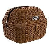 Gepäckkorb SIP Classic, rund, 360x320x280 mm, Metall/Kunstleder, braun, mit herausnehmbarer Nylon - Innentasche