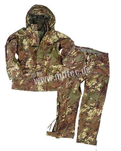 Mil-Tec Traje Impermeable Hombre (Negro/M)