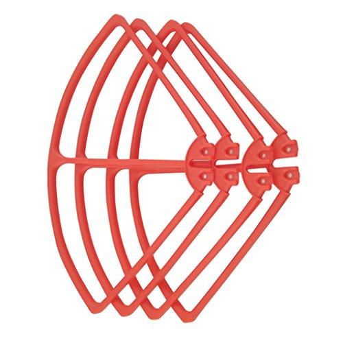 Sharplace 4 Pezzi Protezione Di Elica Guardia Paraurti In Plastica Per Syma X8c X8w X8g X8hw X8hc Quadcopter Parti Di Ricambio Di Drone - Rosso