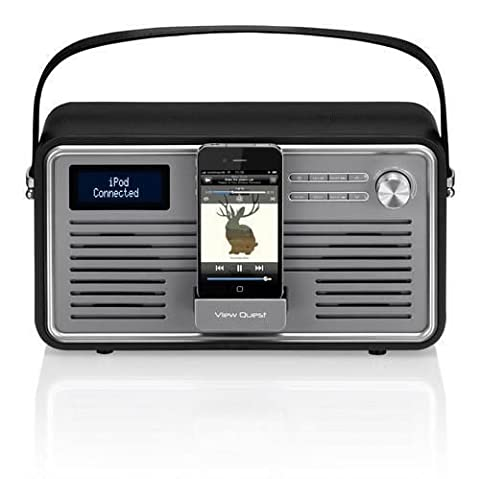 View Quest RETROWF-BK/G Retro Internet Radio with iPhone and iPod