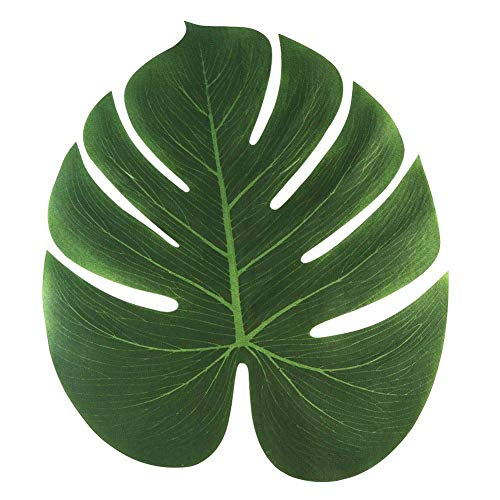 Gfhjgjhj 8 Zoll Schildkröte Rücken Blatt,12 Stück Tropische Imitation Pflanze Blätter Hawaiische Party Dschungel Strand Thema Dekorationen für Geburtstag Partydekorationen Vorräte
