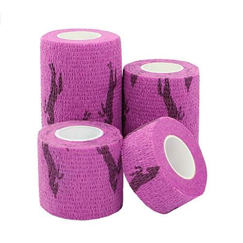 5 cm Pet Elastic Bandage Vlies Kohäsive Selbstklebende Bandage Band Finger Gelenke 7,5 cm x 4,5 mt 1 lila Pferd ()