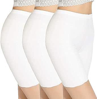 Feifish Legging Court Blanc Femme Lot de 3 Shorties Boxer de Bain Femme meuf en Legging Sport Culotte Gainante Ventre Plat Lingerie Sculptante sans