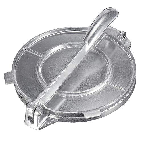 Urben Life Gusseisen Tortilla Presse und pataconera,Die automatische Edelstahl Antihaft Manuelle Gusseisen-Mehl-Mais-Tortilla-Presse für Reastaurant Tortilla Roti Maker