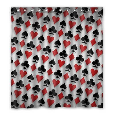 Dalliy Brauch ace poker Wasserdicht Polyester Shower Curtain Duschvorhang 167cm x 183cm (Poker Duschvorhang)