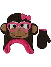 ABG Accessories Knit Animal Monkey Face Critter Hat and Mitten Set -  Toddler  4013  b9668bae812e