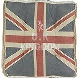 Stuhlkissen - Sitzkissen Vintage Union Jack - ca 42 x 42 cm