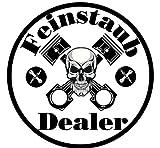 Feinstaub-Dealer Auto Aufkleber Sticker Diesel Feinstaub Umwelt Plakette Kulturgut JDM Tuning TÜV LKW Lustig Fun 2 Stück! Stickerbomb Racing Kolben Oldschool Feinstaub-Terrorist