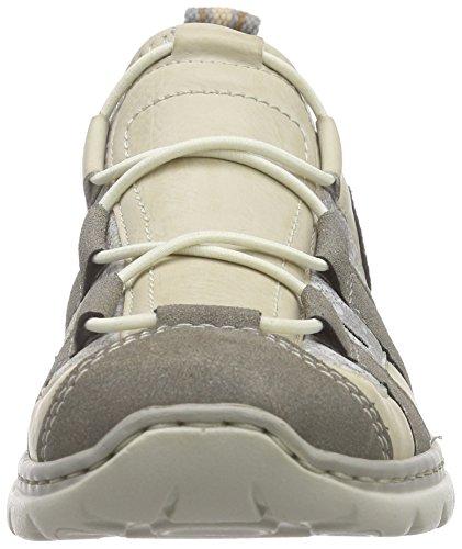 Rieker L3261 Women Low-top Damen Sneakers Grau (staub/offwhite/silverflower/polvere/beige / 42)