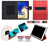 reboon Samsung Galaxy Tab S4 Hülle Tasche Cover Case Bumper   Rot Leder   Testsieger