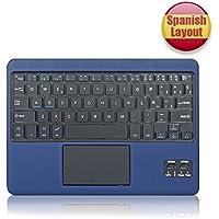 CoastaCloud QWERTY Español Delgado Teclado Bluetooth con una Función de Multi- touchpad y batería recargable