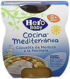 Hero Baby Cocina Mediterránea Cazuela de Merluza a la Marinera, Tarrina de Plástico - Paquet...