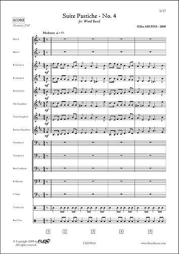PARTITURA CLASICA - Suite Pastiche - No. 4 - G. ARCENS - Wind Band