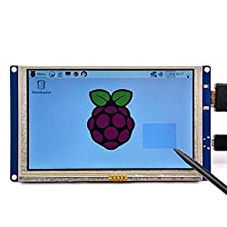 GeeekPi 5 Zoll HDMI Monitor LCD resistiven Touch Screen 800x480 LCD Display USB Schnittstelle für Himbeere Pi 3/2 Modell B / B + & Banana Pi (Plug and Play Free Driver)