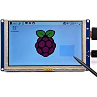 GeeekPi 5 inch HDMI Monitor LCD Resistive Touch Screen 800x480 LCD Display USB Interface for Raspberry Pi 3 / 2 Model B / B+ & Banana Pi ( Plug and Play Free Driver )