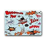 Xdevrbk Door Mats Custom Comic Book Words Indoor/Outdoor Doormat