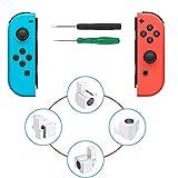 Metallschloss Schnallen Joy-Con Ersatz Teile für Nintendo Switch NS Joy Con mit Schraubendreher Reparatur Werkzeugsatz (2 Sätze)