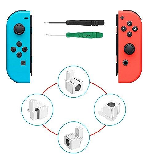 Metallschloss Schnallen Joy-Con Ersatz Teile für Nintendo Switch NS Joy Con mit Schraubendreher Reparatur Werkzeugsatz (2 - Nintendo-ds-tool-kit