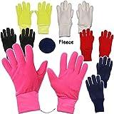 alles-meine.de GmbH Fleece Fingerhandschuhe -  kräftiges ROT  - Größe: 4 bis 5 Jahre - LEICHT anzuziehen ! - mit extra Langen Bündchen Kinder & Babyhandschuhe / Fleecehandschuh..