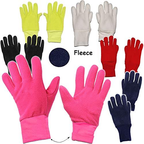 alles-meine.de GmbH Fleece Fingerhandschuhe –  NEON GRÜN  – Größe: 3 bis 4 Jahre – LEICHT anzuziehen ! – mit extra Langen Bündchen Kinder & Babyhandschuhe / Fleecehandschuhe – .. | 04050677985946