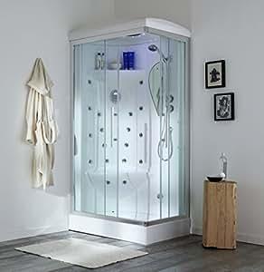 cabine de douche bain remous 70x90 iride gauche avec sauna cuisine maison. Black Bedroom Furniture Sets. Home Design Ideas