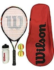 WILSON Burn 25 Jnr Tennis Schläger Set (Farboptionen)