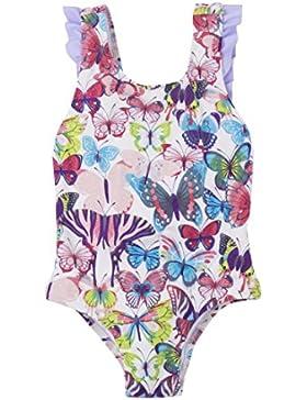 Hatley Bow Back Ruffle Swimsuit, Baño para Niños