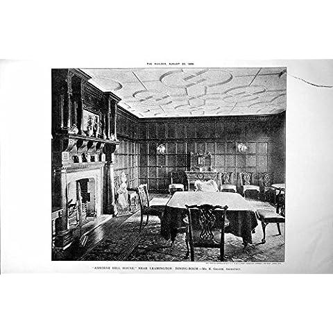 Imprima la Casa de la Colina de Ashorne Cerca del Comedor E Goldie de Leamington 1898 707L175