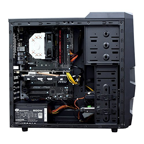 Ant PC Solenopsis KL500I Basic Editing & Gaming Desktop Computer with air cooled 7th Generation Intel core i5 7500 upto 3.8 Ghz, Nvidia GTX 1050Ti 4GB, 8GB DDR4 2400Mhz RAM, 120GB SSD (Ideal for Gaming, Auto CAD, Photoshop, Sony Vegas Pro)