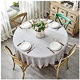 Tablecloth Tischdecke Nordic Vintage Silver dick Hotel Restaurant Tischdecke rund Luxus, 180 cm