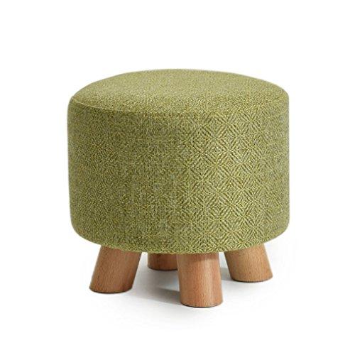 ZRXian-Fußhocker Fashion Massivholz Schuhe Hocker Runde Gepolsterte Hocker Sofa Hocker Fußstütze Kleinen Sitz Fußstütze (Farbe : #3)