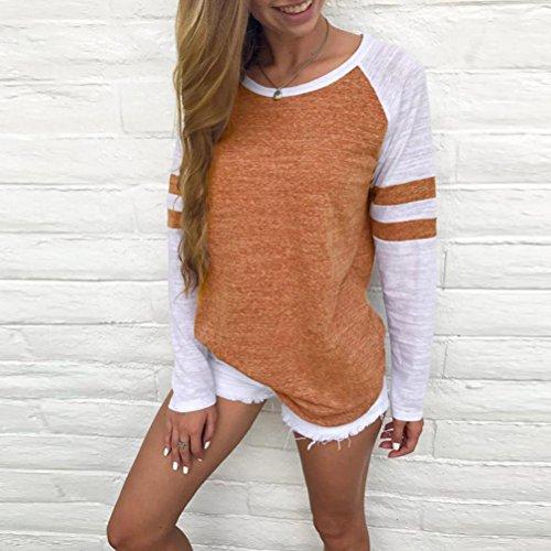 Femmes Blouse, Transer ® Femmes mode femme chemise manches longues blouse t-shirt Orange