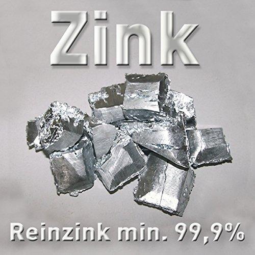 Zink-Würfel 1000g 1 kg (a ca. 3cm³, min. 99,9%) Reinzink Metall Feuerverzinken Zn Element